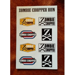 planche a4 stickers zombie